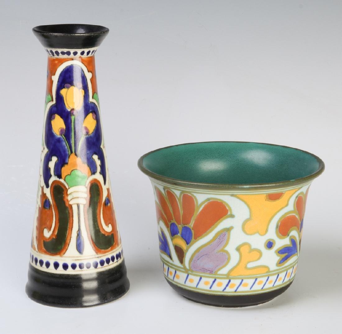 GOUDA ART POTTERY OBJECTS CIRCA MID 20TH CENTURY