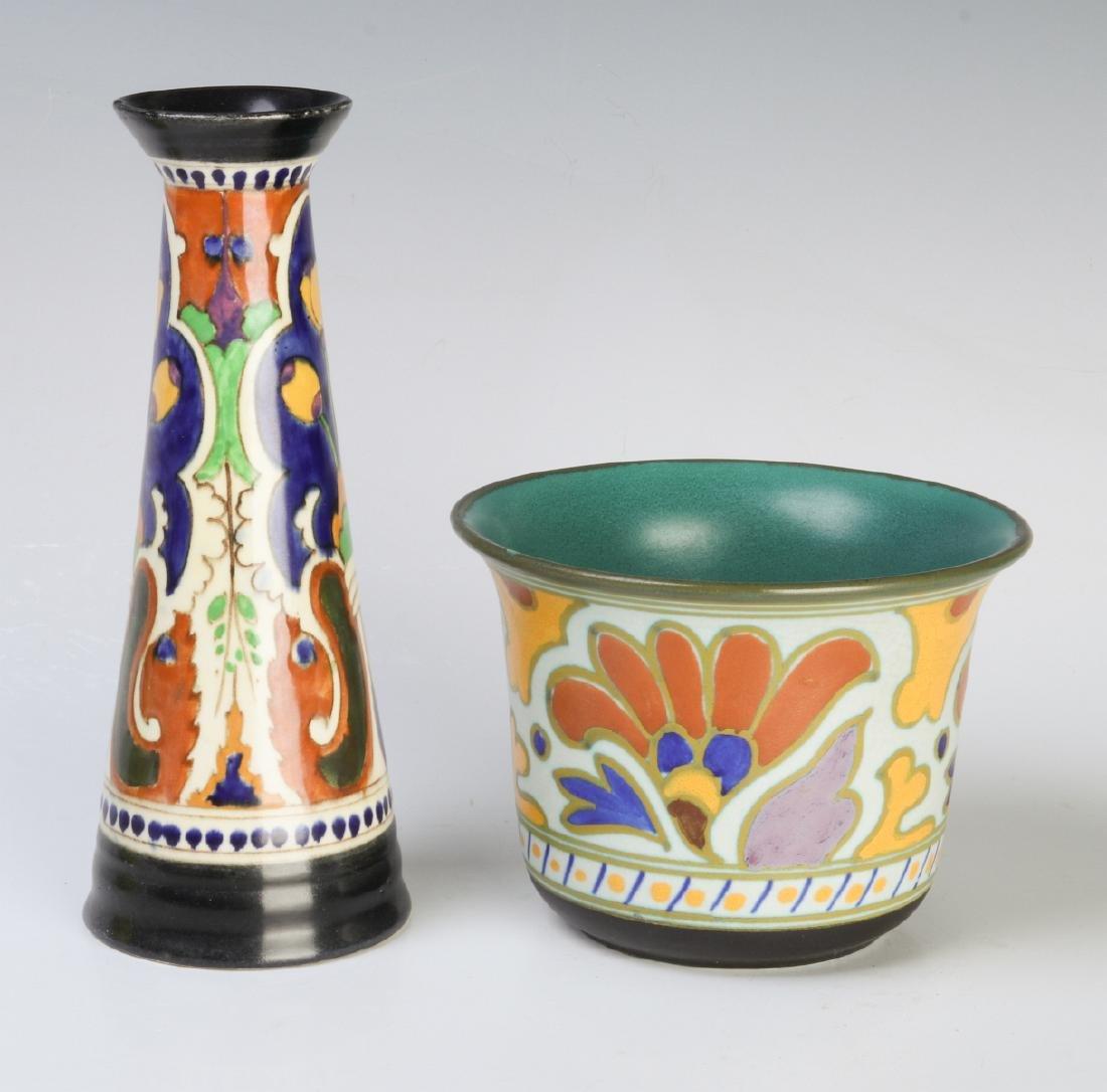 GOUDA ART POTTERY OBJECTS CIRCA MID 20TH CENTURY - 2