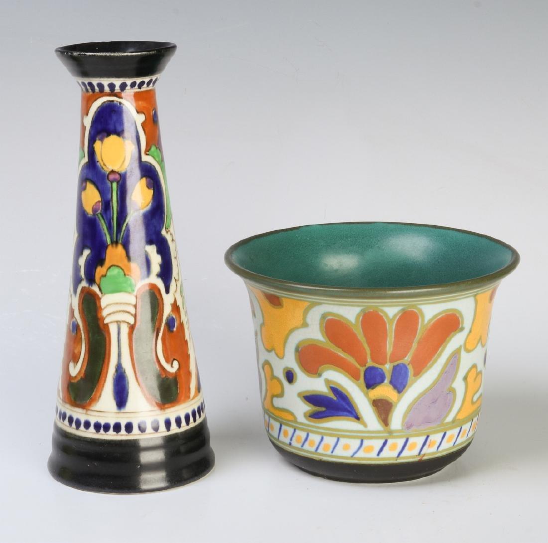 GOUDA ART POTTERY OBJECTS CIRCA MID 20TH CENTURY - 3