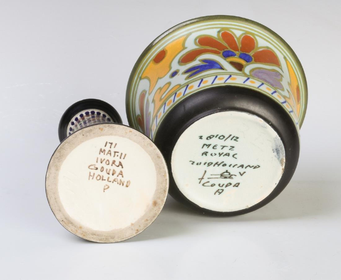GOUDA ART POTTERY OBJECTS CIRCA MID 20TH CENTURY - 8