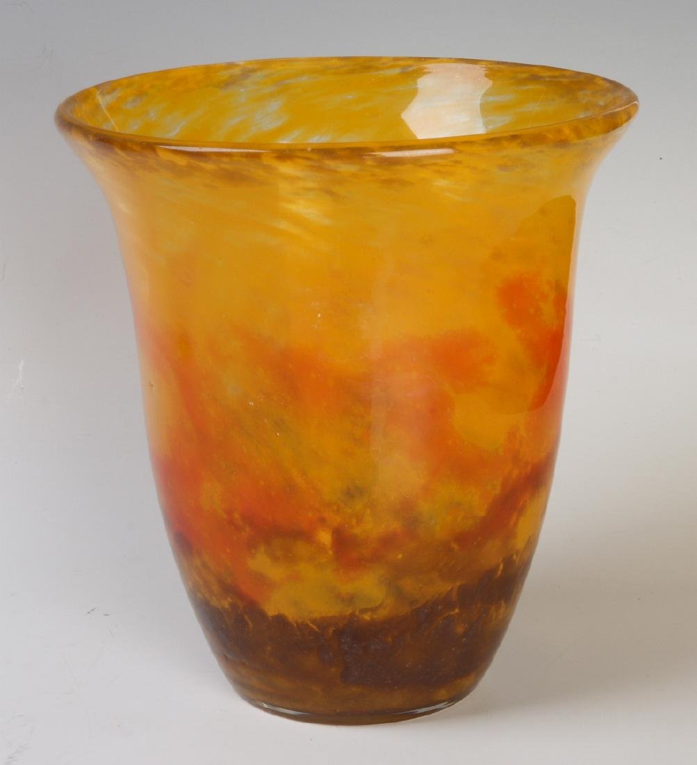 AN ART GLASS VASE SIGNED MULLER FRERES LUNEVILLE - 2