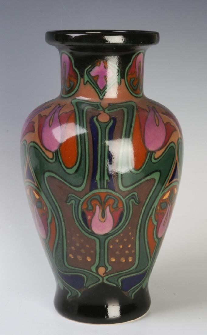 A EUROPEAN ART POTTERY VASE ATTR ROZENBURG