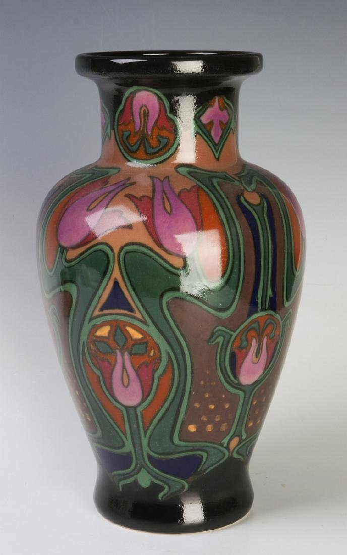 A EUROPEAN ART POTTERY VASE ATTR ROZENBURG - 2