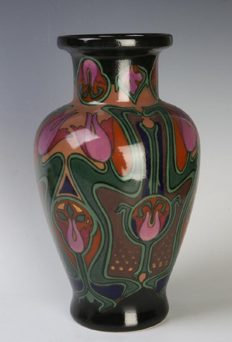 A EUROPEAN ART POTTERY VASE ATTR ROZENBURG - 4