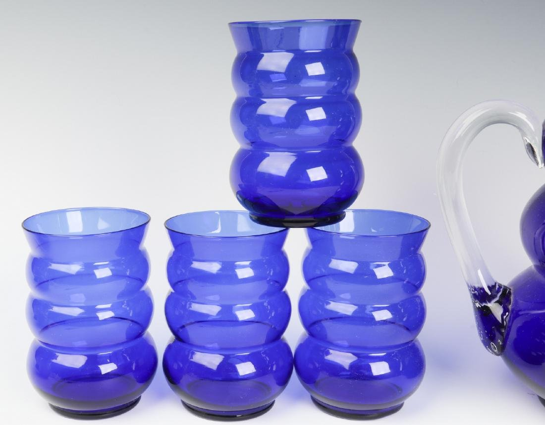 HARPO GLASS SET & CHASE BLUE MOON COCKTAIL CUPS - 2