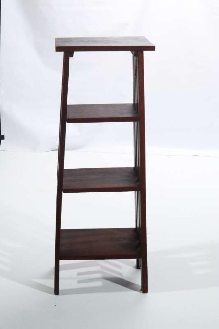 A CIRCA 1900 OAK ARTS AND CRAFTS MAGAZINE STAND - 2