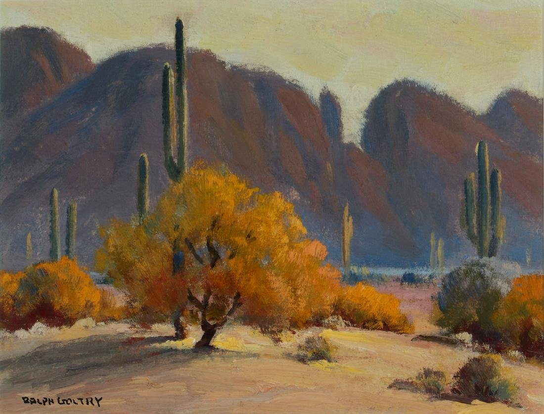 RALPH GOLTRY (1884-1971) OIL ON BOARD