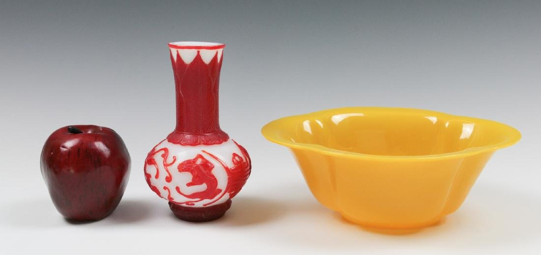 TWO CARVED PEKING GLASS OBJECTS - 2
