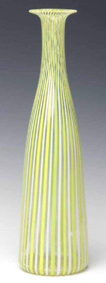 A MURANO GLASS BOTTLE VASE SIGNED VENINI, AS FOUND - 2