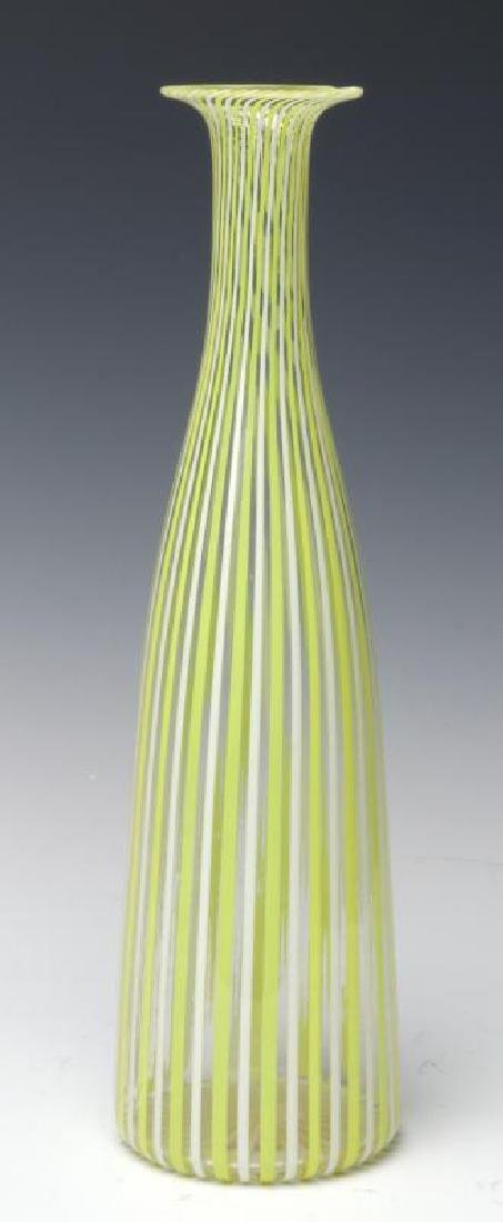 A MURANO GLASS BOTTLE VASE SIGNED VENINI, AS FOUND - 3