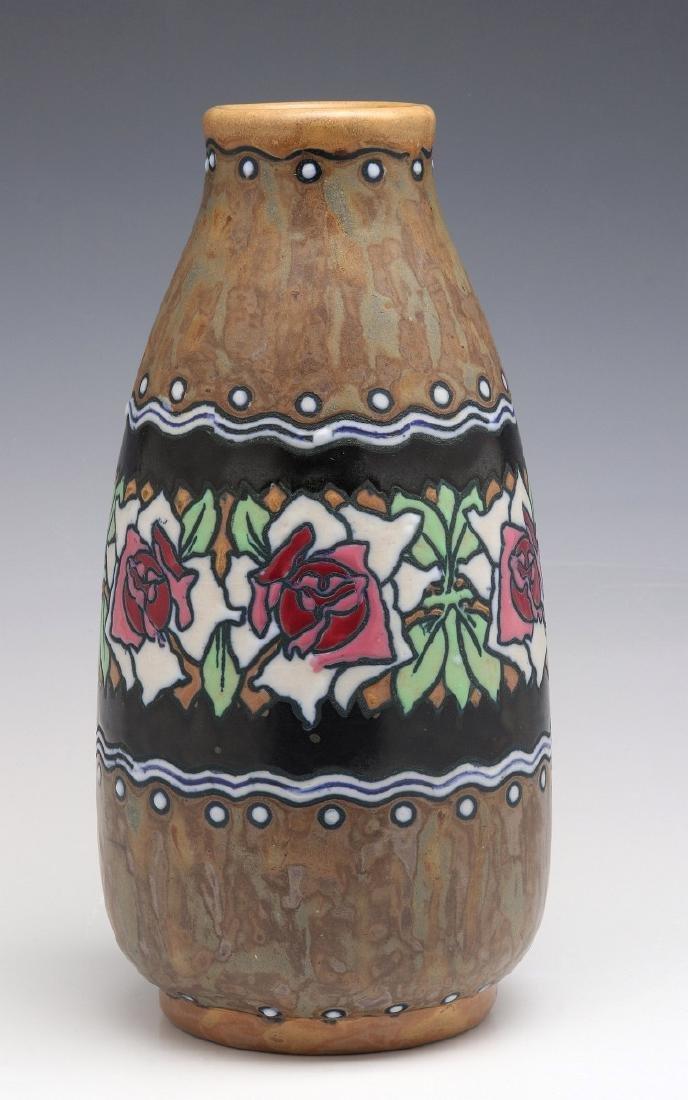 A BOCH FRERES KERAMIS BELGIAN ART POTTERY VASE
