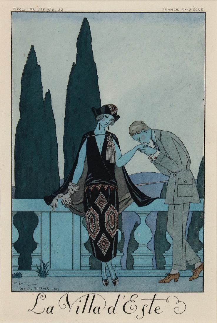 TWO GEORGE BARBIER (1882-1932) POCHOIR PRINTS