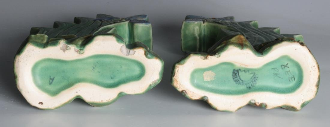A PAIR OF WELLER 'ARDSLEY' STEPPED IRIS VASES - 8