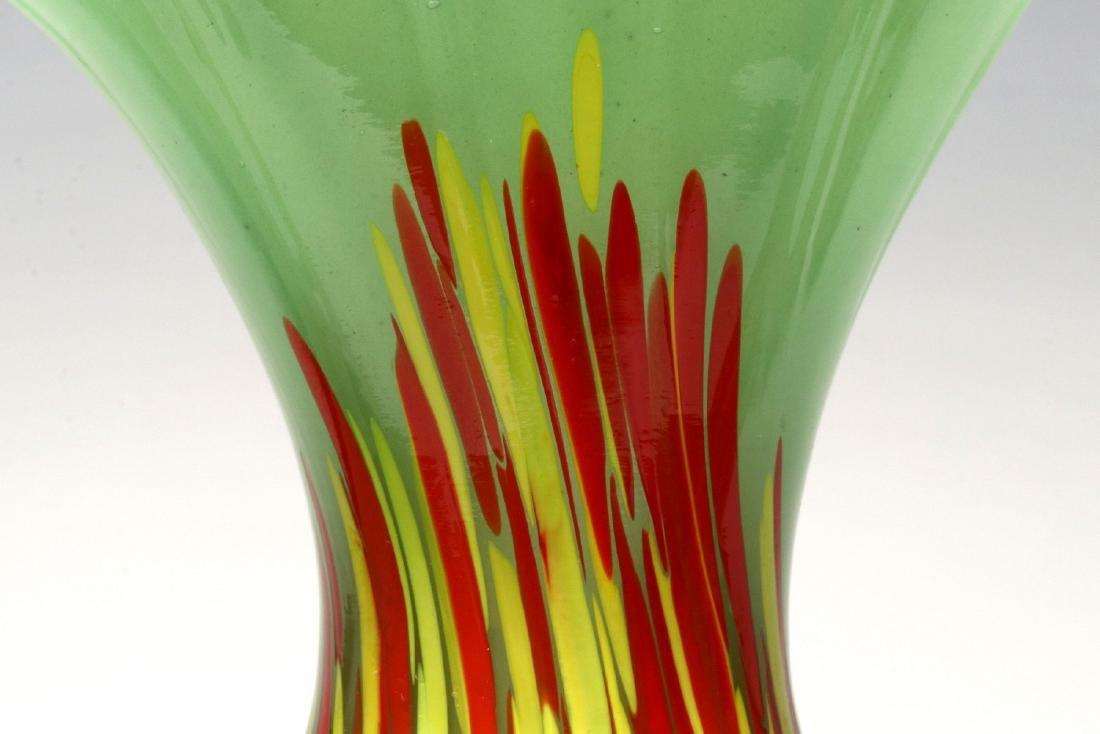TWO ART GLASS VASES SIGNED CZECHOSLOVAKIA - 5