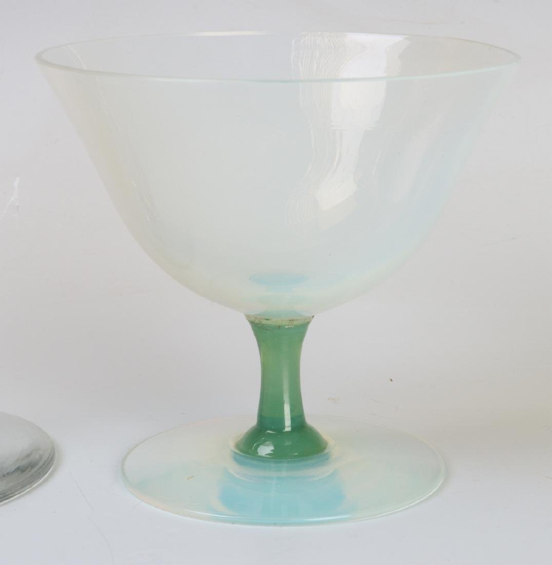 H.C. FRY GLASS CO. COMPOTE AND SHERBET PAIR - 3