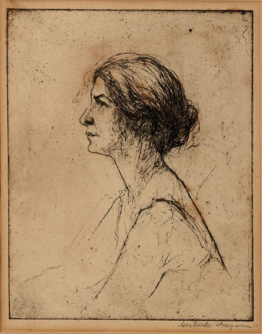 GERTRUDE FREYMAN (1901-1994) PENCIL SIGNED ETCHING