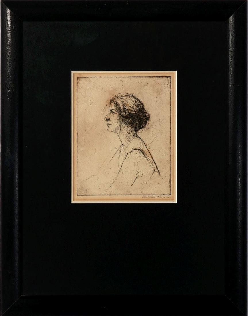 GERTRUDE FREYMAN (1901-1994) PENCIL SIGNED ETCHING - 2