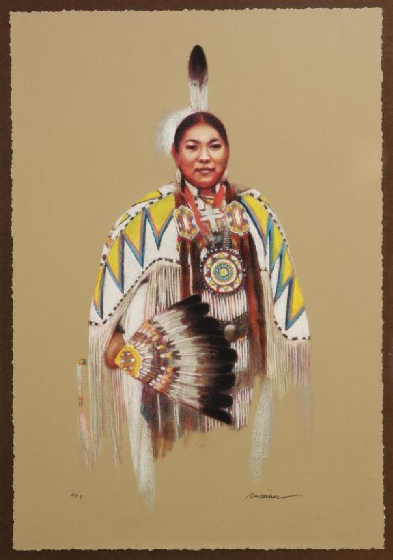 DANIEL RAMIREZ GICLEE OF A NATIVE AMERICAN WOMAN