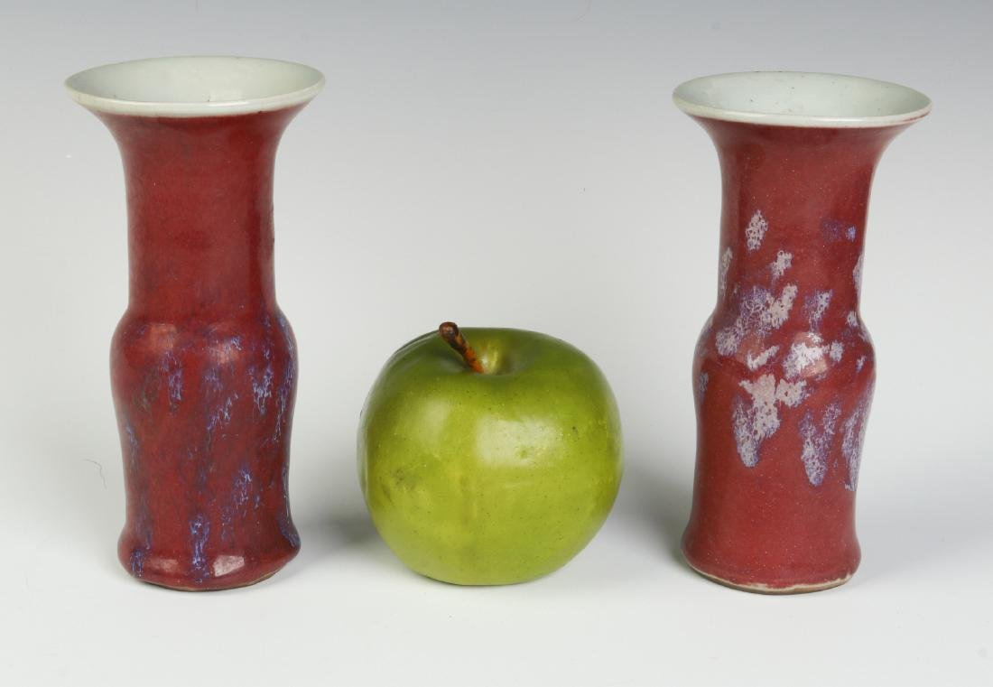 A PAIR EARLY 20TH C. CHINESE SANG DE BOEUF VASES - 4