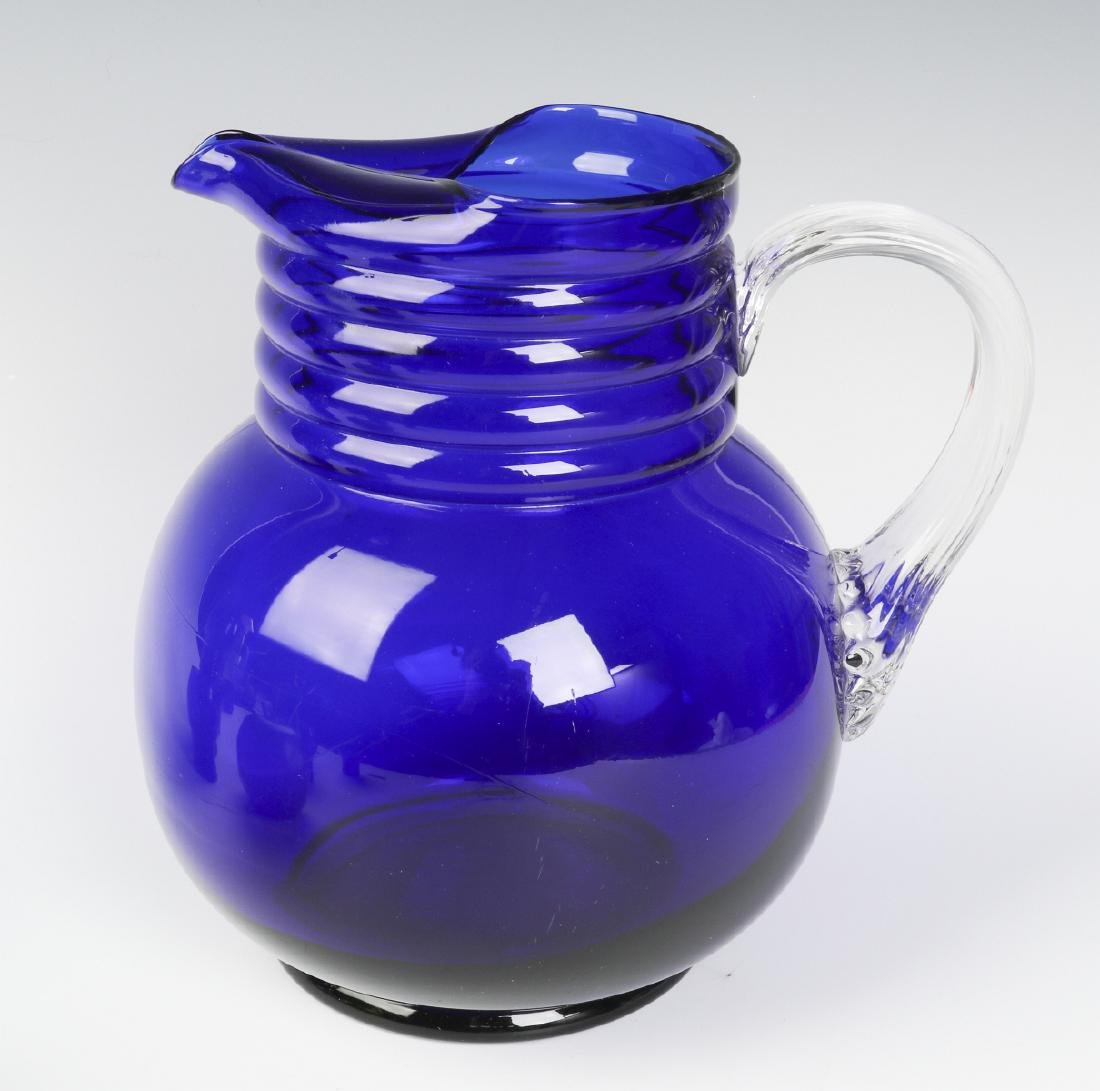 A LOUIE ART DECO COBALT HARPO WATER SET C. 1930s - 5