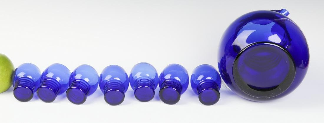A LOUIE ART DECO COBALT HARPO WATER SET C. 1930s - 9