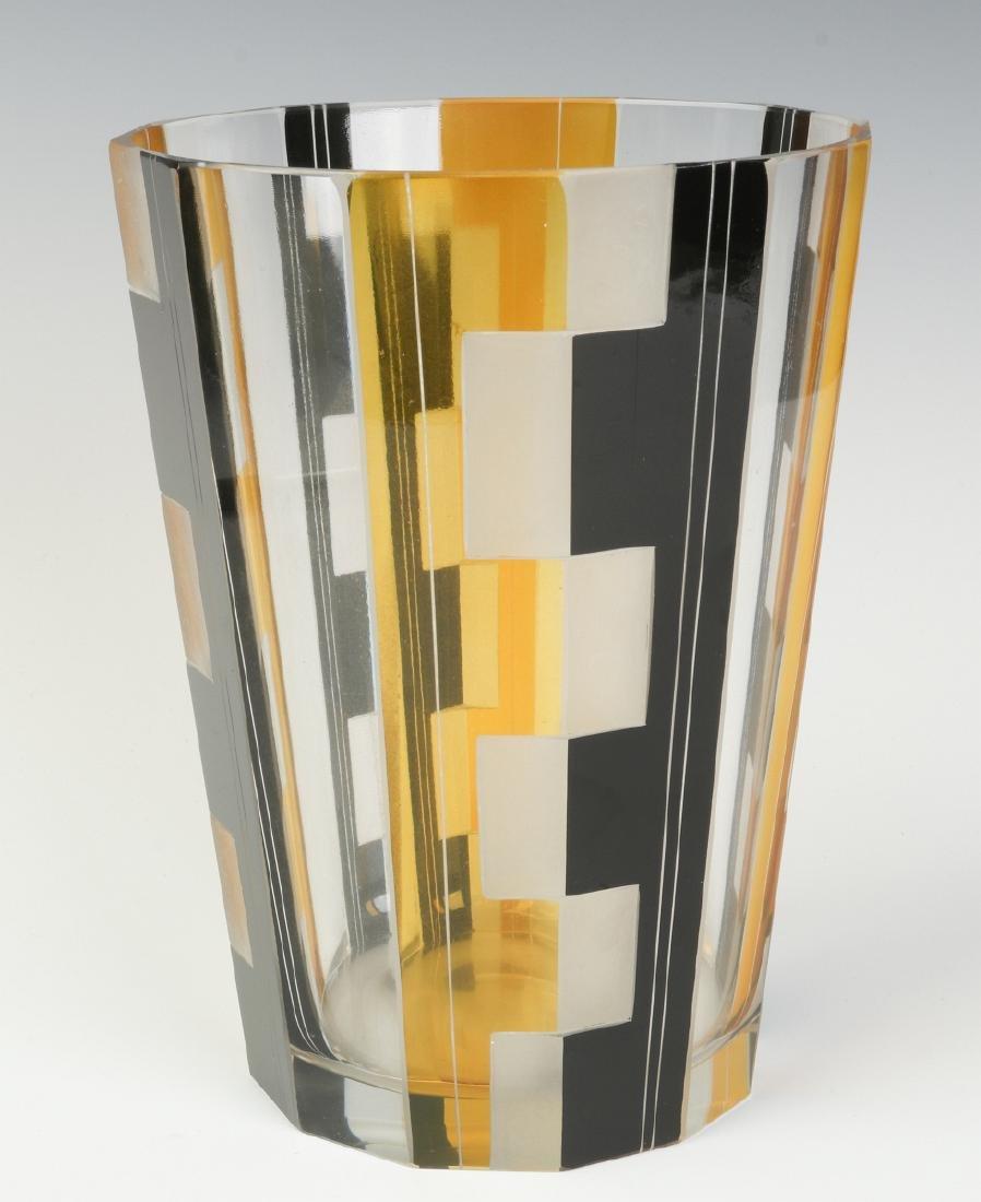CIRCA 1930S ART DECO BOHEMIAN GLASS, KARL PALDA