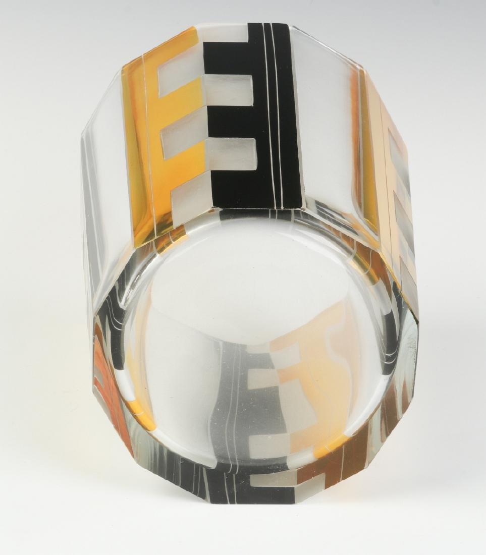 CIRCA 1930S ART DECO BOHEMIAN GLASS, KARL PALDA - 4