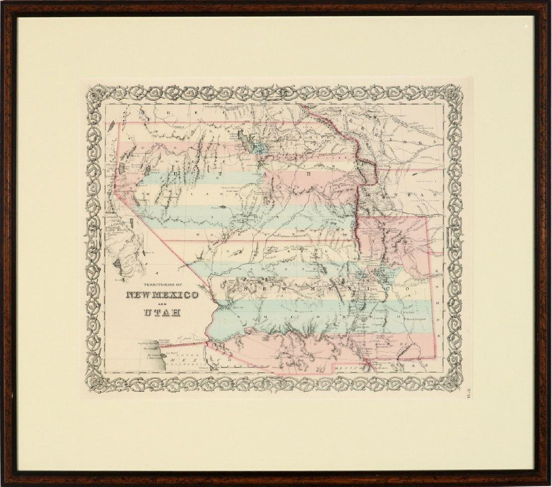 A GEORGE COLTON LITHOGRAPHED MAP, 1856 - 2