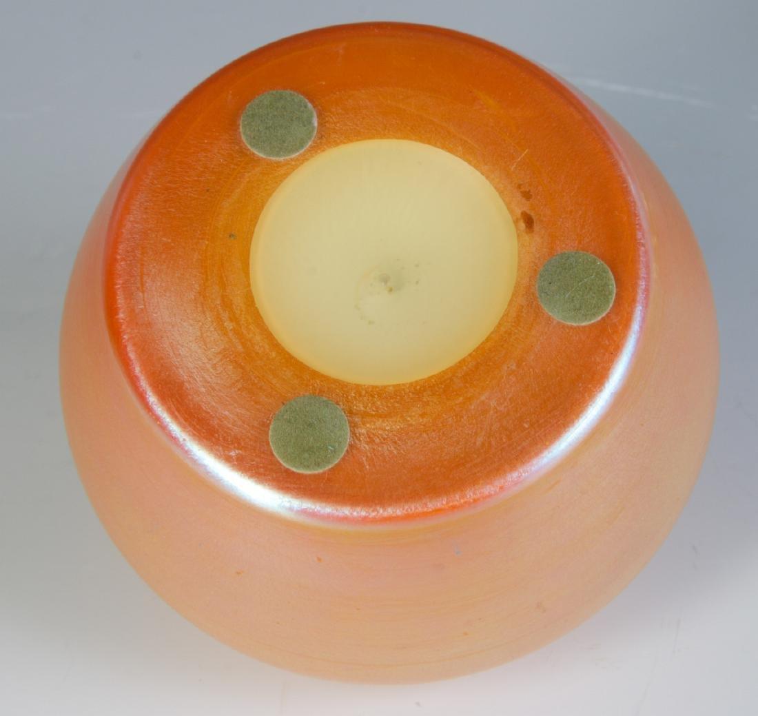 A GOLD AURENE LIDDED ART GLASS JAR ATTR DURAND - 5