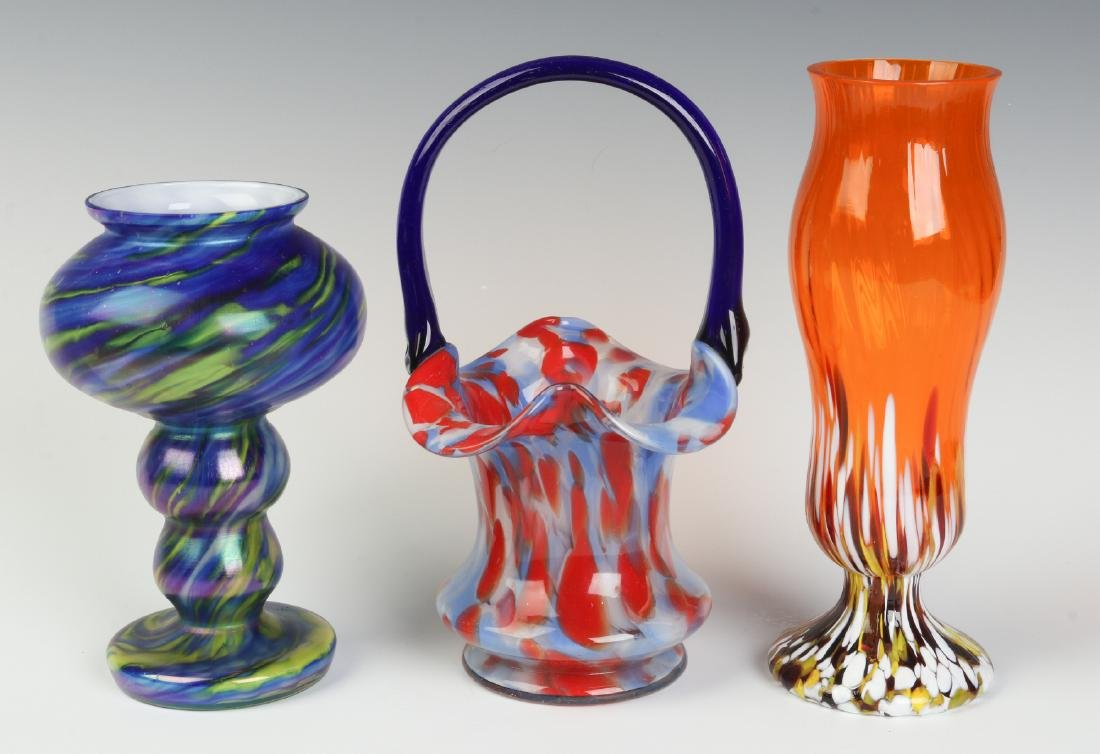 THREE UNUSUAL CZECHOSLOVAKIA ART GLASS OBJECTS - 2