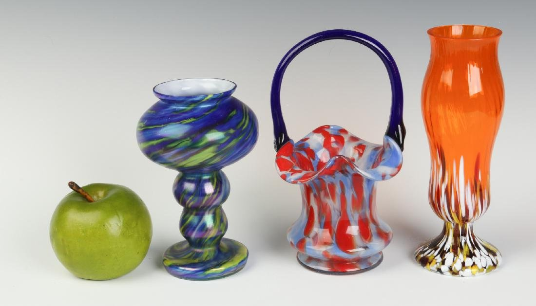 THREE UNUSUAL CZECHOSLOVAKIA ART GLASS OBJECTS - 3