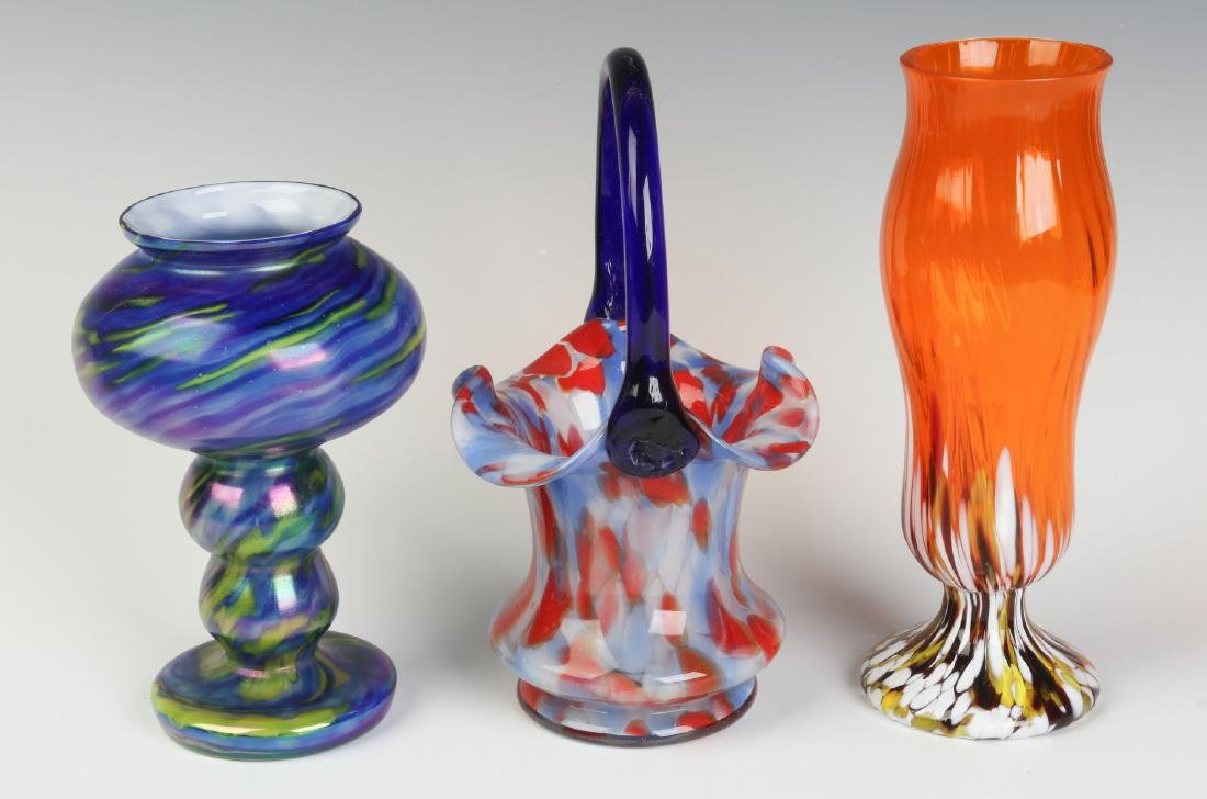 THREE UNUSUAL CZECHOSLOVAKIA ART GLASS OBJECTS - 4