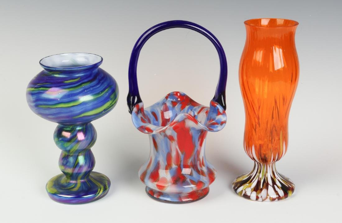 THREE UNUSUAL CZECHOSLOVAKIA ART GLASS OBJECTS - 5