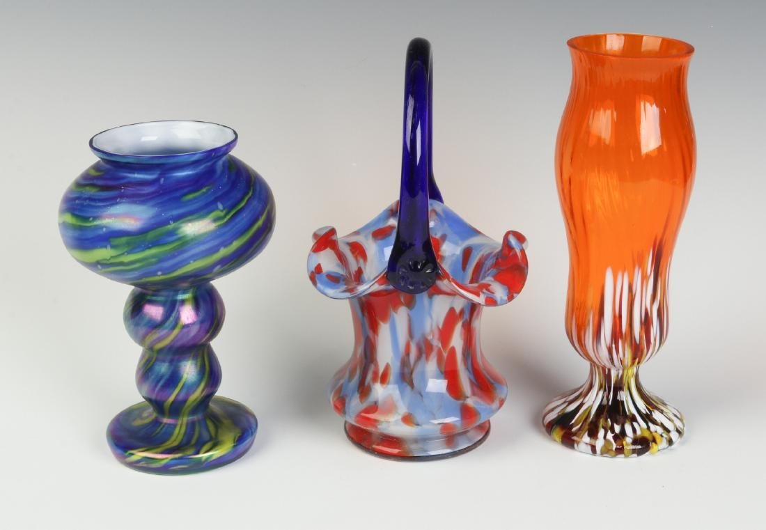 THREE UNUSUAL CZECHOSLOVAKIA ART GLASS OBJECTS - 6