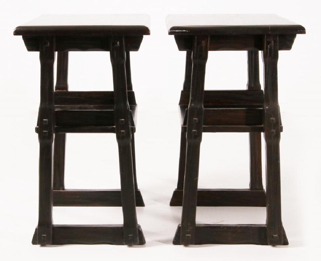 A PAIR OF A. BRANDT & CO RANCH OAK SIDE TABLES - 3