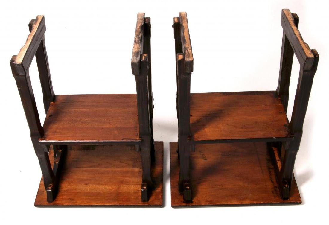 A PAIR OF A. BRANDT & CO RANCH OAK SIDE TABLES - 5