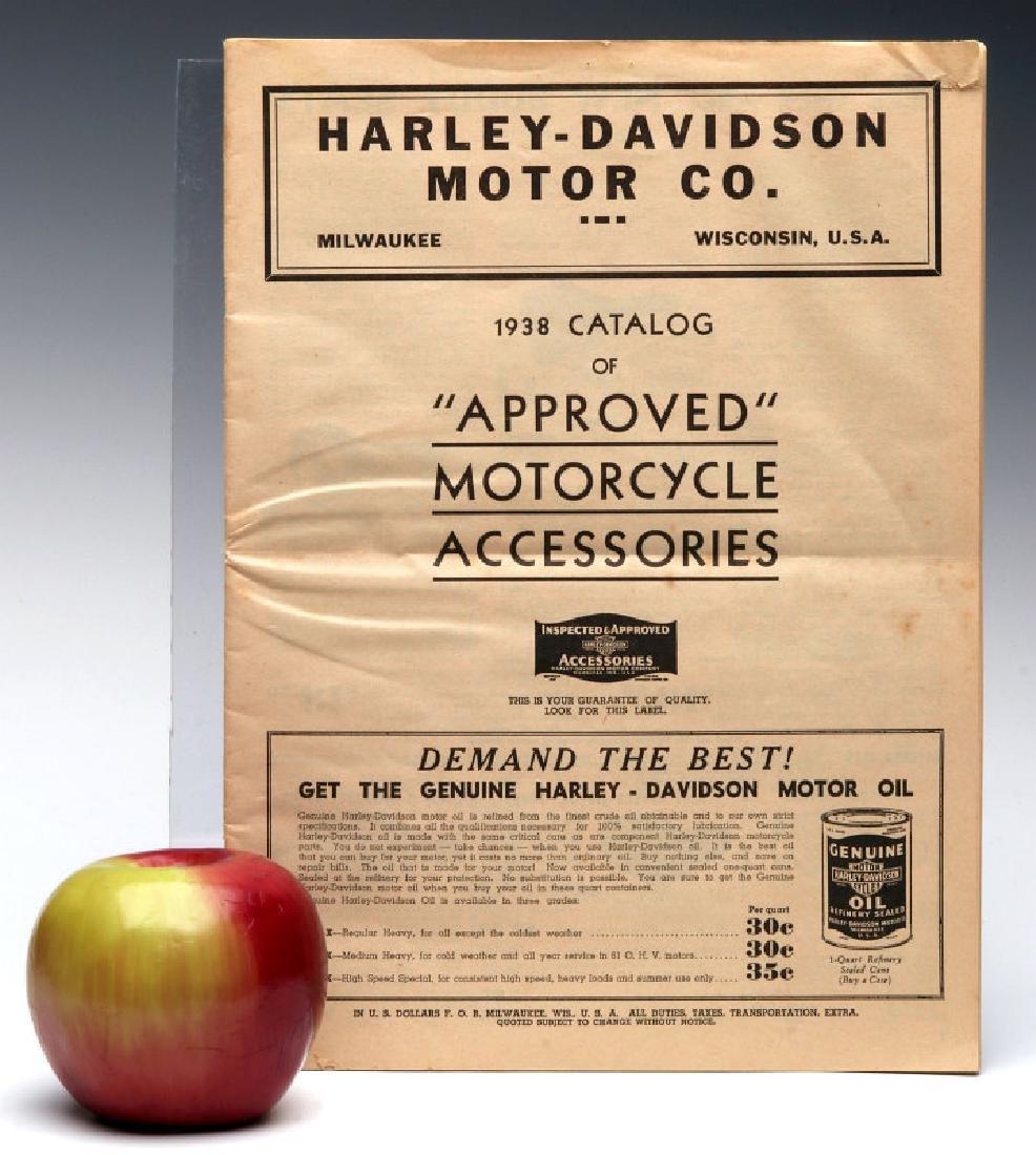 A 1938 HARLEY DAVIDSON ACCESSORIES TRADE CATALOG - 2