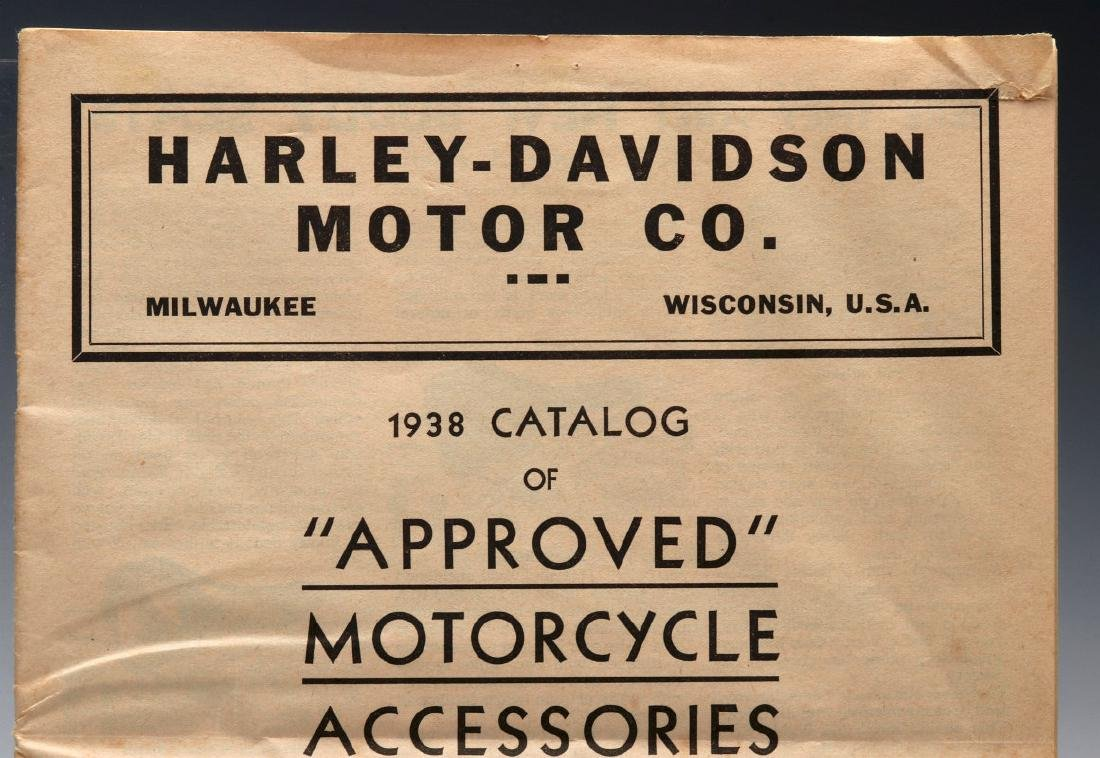 A 1938 HARLEY DAVIDSON ACCESSORIES TRADE CATALOG - 3