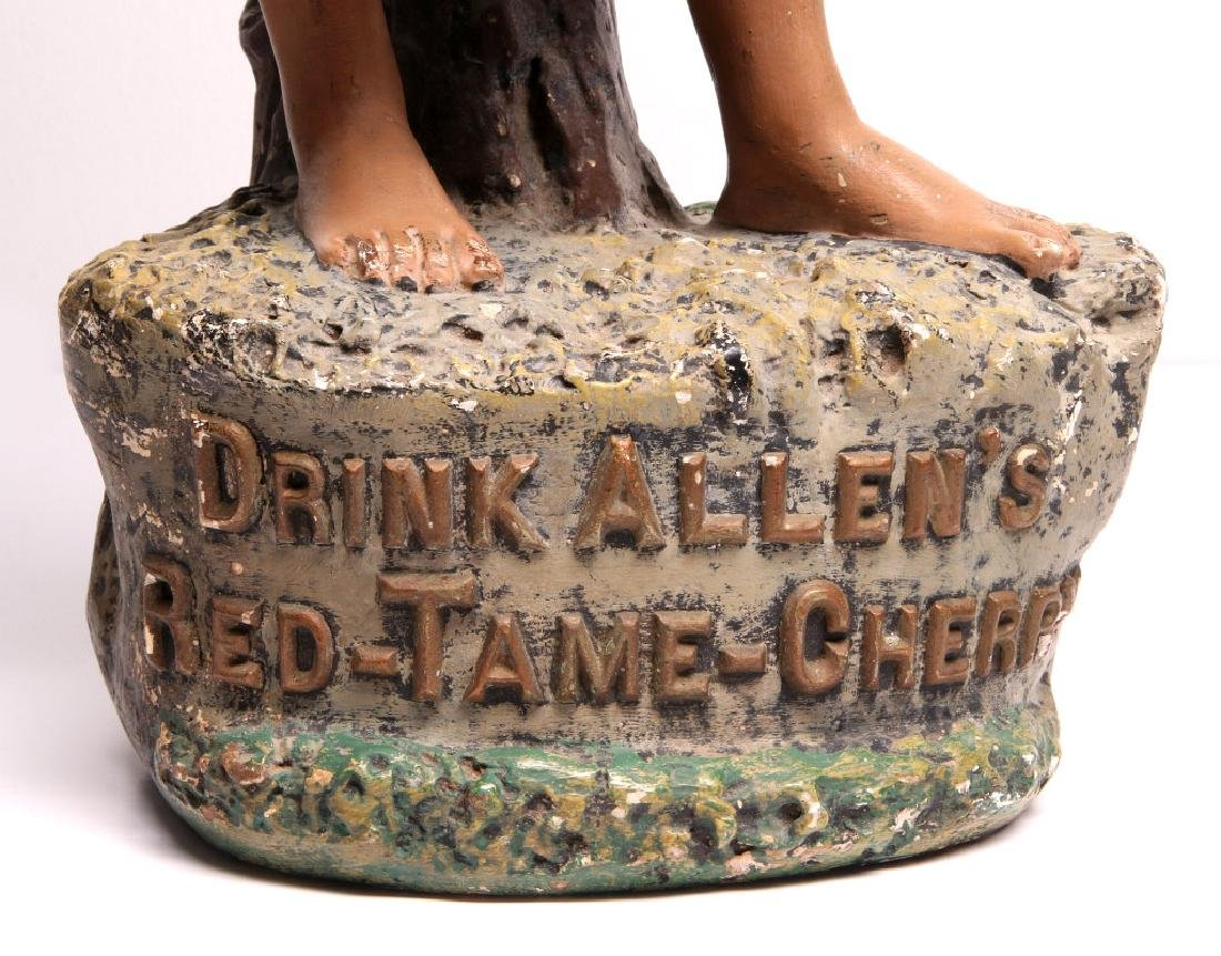 A RARE ALLEN'S RED TAME CHERRY ADVERTISING FIGURE - 4
