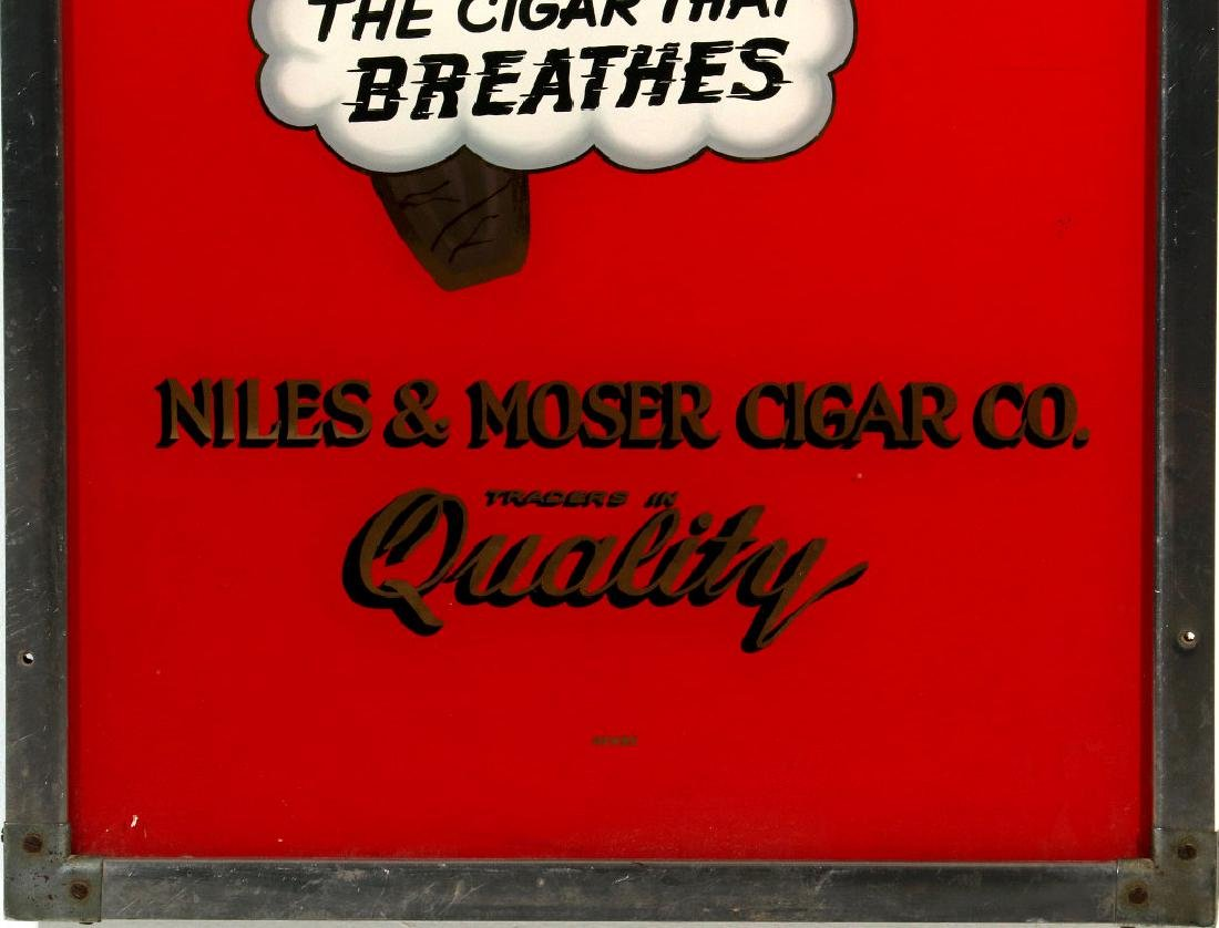 CROWN DRUGS ROI-TAN CIGARS REVERSE PAINTED SIGN - 5