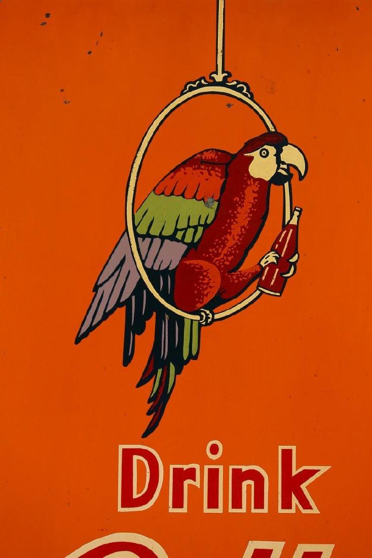 A RARE POLLY'S POP SODA ADVERTISING SIGN, C. 1930s - 6