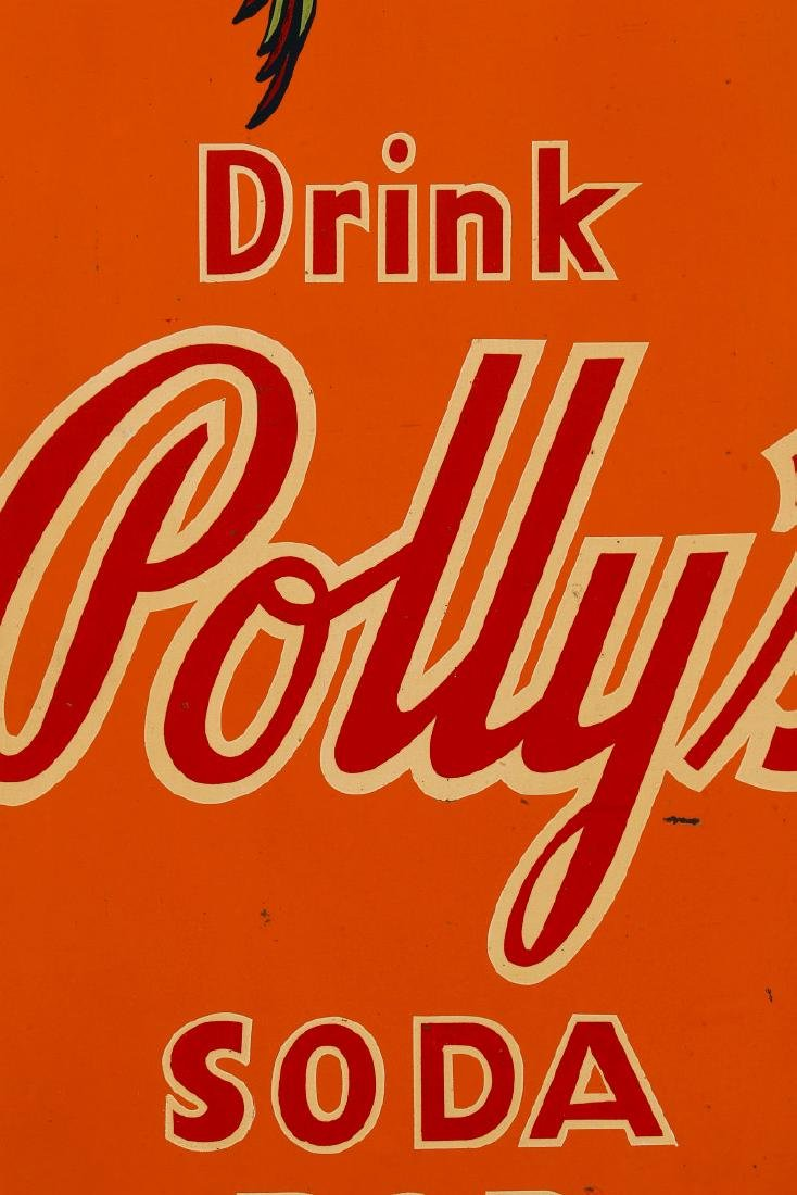A RARE POLLY'S POP SODA ADVERTISING SIGN, C. 1930s - 7