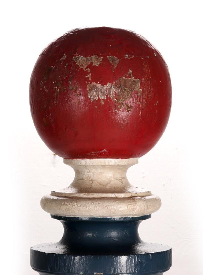 A LATE 19TH CENTURY BARBER POLE, HUME MISSOURI - 2