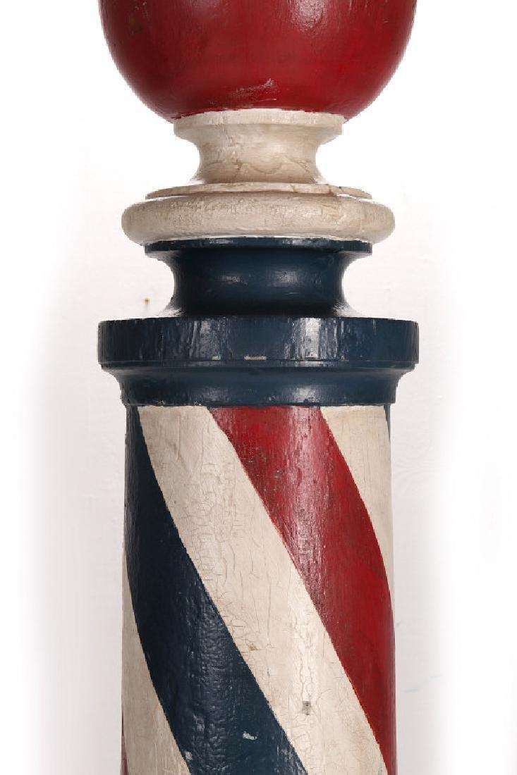 A LATE 19TH CENTURY BARBER POLE, HUME MISSOURI - 3