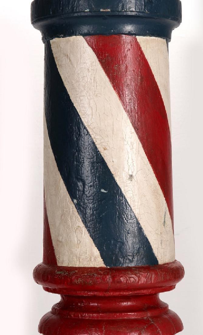 A LATE 19TH CENTURY BARBER POLE, HUME MISSOURI - 4