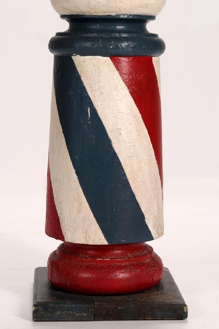 A LATE 19TH CENTURY BARBER POLE, HUME MISSOURI - 6