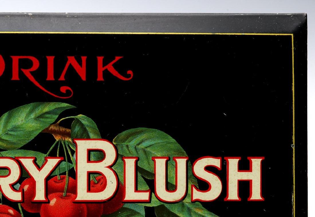 A BRIGHT COLORFUL CIRCA 1910S CHERRY BLUSH SIGN - 4