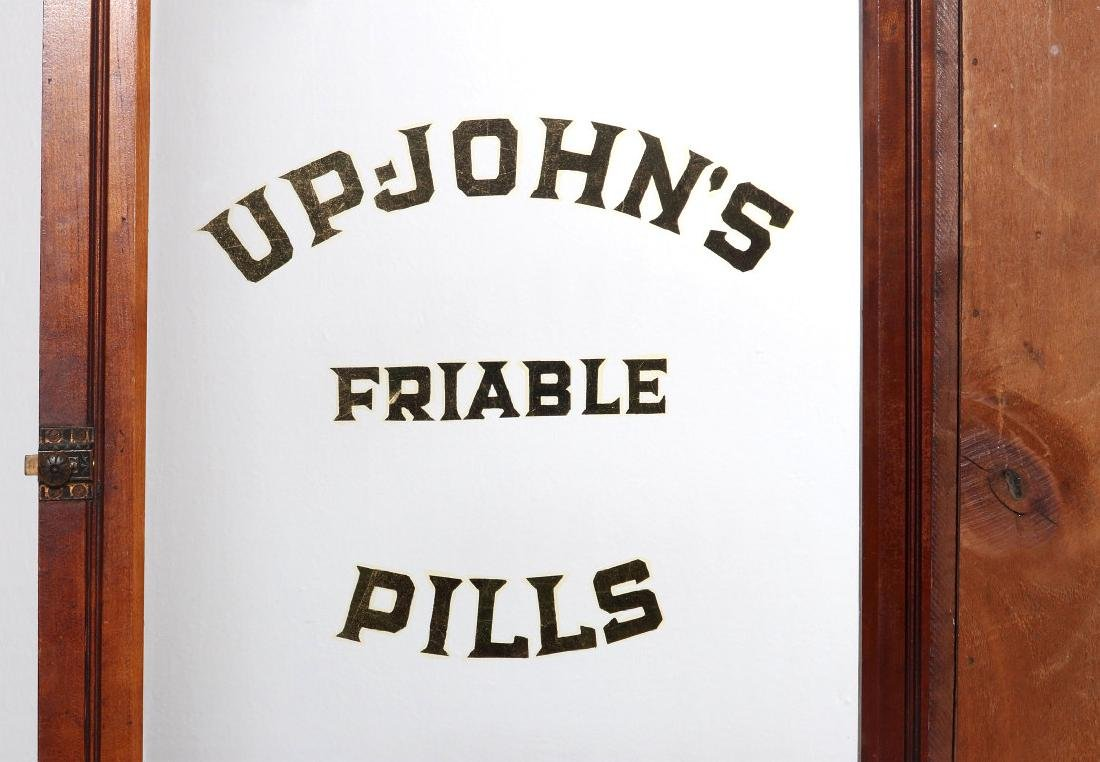 ANTIQUE DISPLAY CASE FOR UP-JOHN'S FRIABLE PILLS