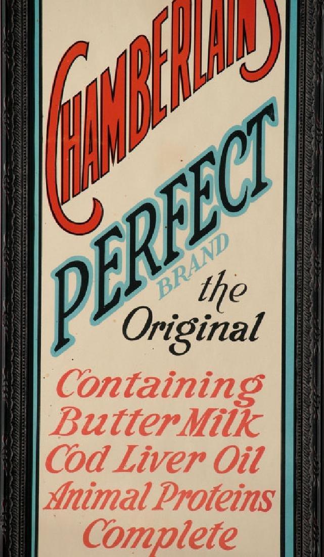A RARE MINT CHAMBERLAIN'S CHICK STARTER PAPER SIGN - 5