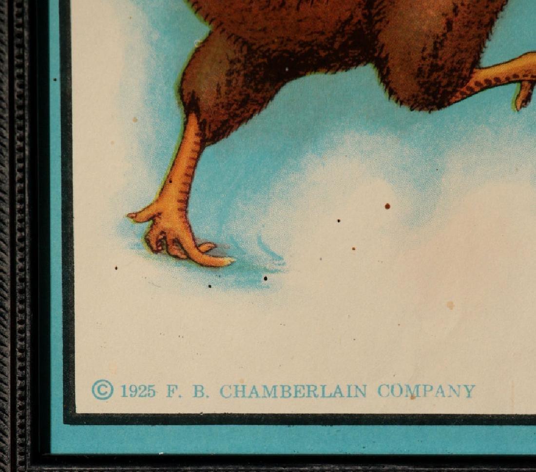 A RARE MINT CHAMBERLAIN'S CHICK STARTER PAPER SIGN - 7